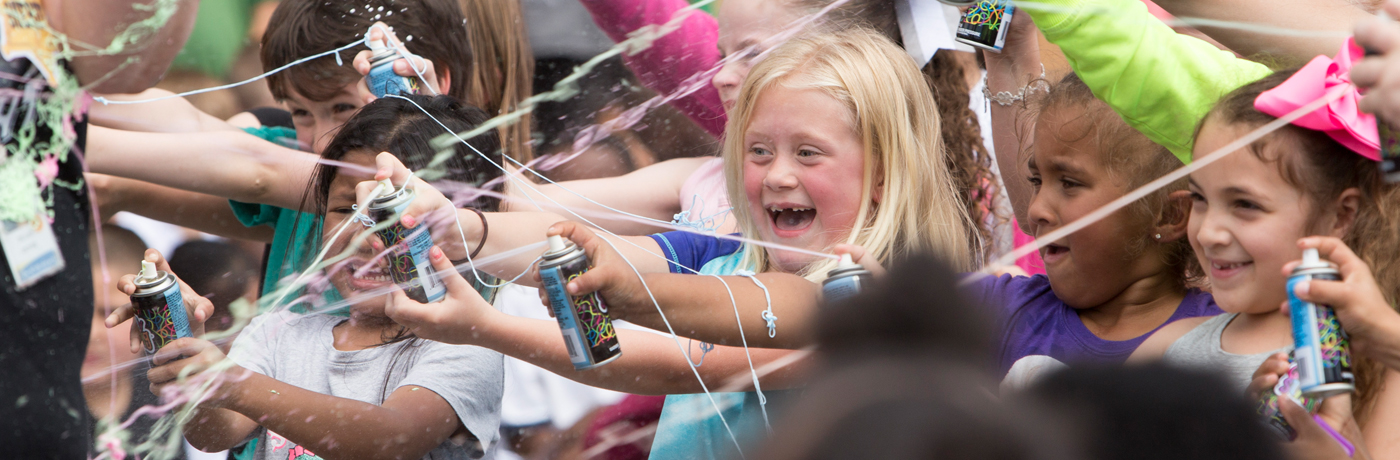 Garton Elementary School Students with Silly String