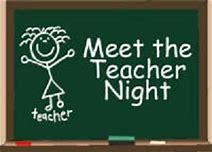 Meet the Teacher Night & 1st Day of School
