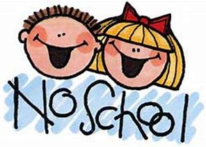 No School November, December and January dates